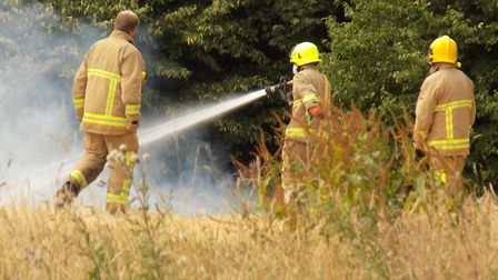 Firefighters were called to tackle fires across Norfolk. Picture: Hannah Frary/HLF Photography