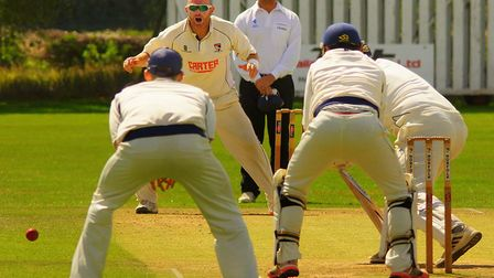 Chris Brown took five wickets in the first innings as Norfolk impressively won at reigning champions