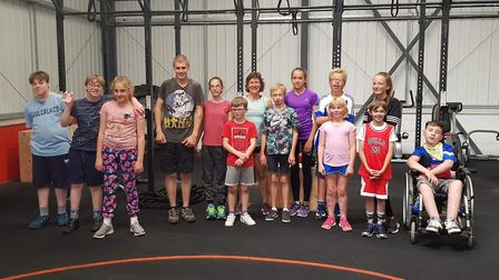 Able2be clients making use of their new gym space in Gilchrist Close, Norwich. Picture: Able2be