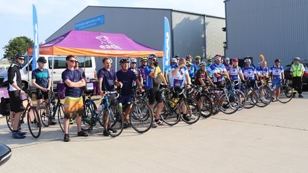 28 cyclists are taking part in the three-day Ride for Life challenge for EACH. Picture: James West/F