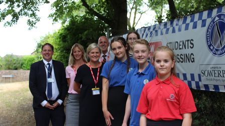 Just last week staff from Sowerby's visited the new banners and met with student councillors. Pictur