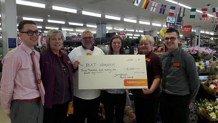 Sainsbury's Pound Lane has recently donated over £3000 to Beat, an organisation supporting those aff