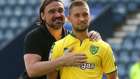 Moritz Leitner made 12 appearances for Norwich City, while on loan from Augsburg and reunited with h