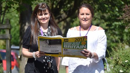 Emma Pawsey, left, and Clare Pretty from Hebron House charity, in Norwich, will be travelling from N