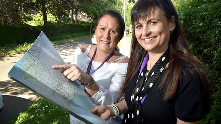 Emma Pawsey, right, and Clare Pretty from Hebron House charity, in Norwich, will be travelling from