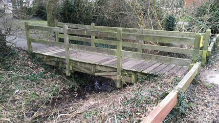 The Rockland St Mary Staithe car park footbridge. A project to replace it has received funding from