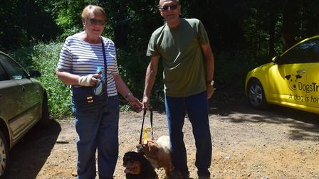 The dog walking buddy scheme starts in East Harling after the murder of Peter Wrighton. Susan Smith,