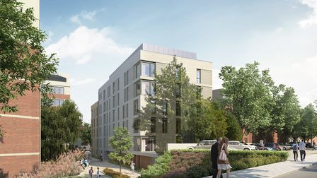 An image of how the development in the Sentinel House car park could look. Pic: Lanpro.