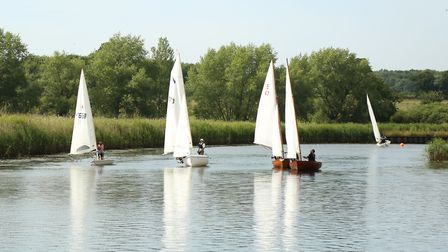 Action from Beccles Sailing Club Picture: Jeremy Rake