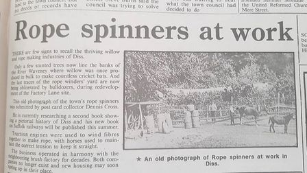 The Diss Mercury from June 25 1993. Picture: Archant