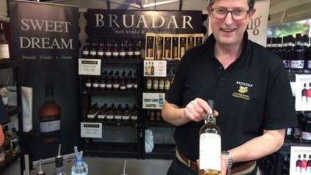 Bill Donaldson on the Bruadar stand at the Royal Norfolk Show. Picture: Mark Shields.