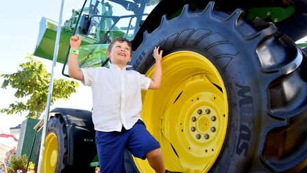 Archie Edgson,8, from Outwell enjoying his time on the tractors at the 2018 Royal Norfolk Show.Pictu