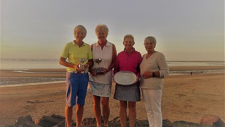 County president Heather Keeble (right) pictured with the prize winners at Royal West Norfolk. Pictu
