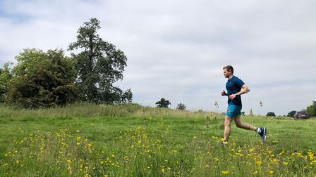 Mark Armstrong out on a training run. Picture: Alison Armstrong