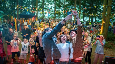 Britains Got Talent stars Jack and Tim Goodacre performed at Jimmy's Festival at the Royal Norfolk S