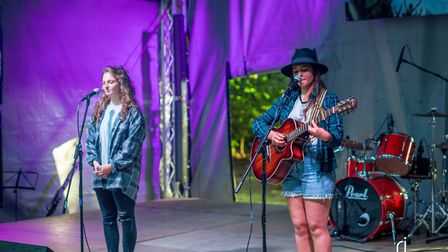 Heavenli and George performed at Jimmy's Festival at the Royal Norfolk Show's Woodland Arena.Photo: