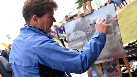 The Royal Norfolk Show 2017Paint Out artist Tom Cringle