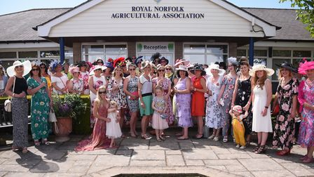 The ladies in the headline hats and best dressed competition at the Royal Norfolk Show. Picture: DEN