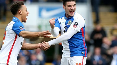 Ben Marshall celebrates scoring during his time at Blackburn - when he was a team-mate alongside Nor