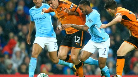 Ben Marshall (12) in action for Wolves at Manchester City last season Picture: Tim Goode/PA