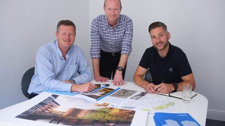 Managing director, Chris Leeming, left, of the town planning and building design consultancy firm La