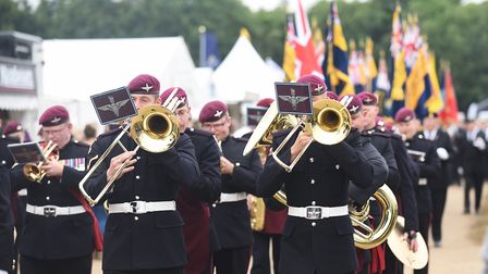 The Band of the Parachute Regiment on parade at the Royal Norfolk Show. Picture: Ian Burt