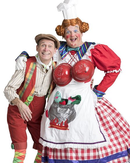 Ben Langley and Richard Gauntlett, pictured Norwich Theatre Royal's 2017 pantomime Sleeping Beauty,