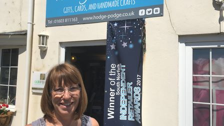 Liz Hovey, manager of Hodge Podge gift shop in Hethersett. Picture: David Hannant