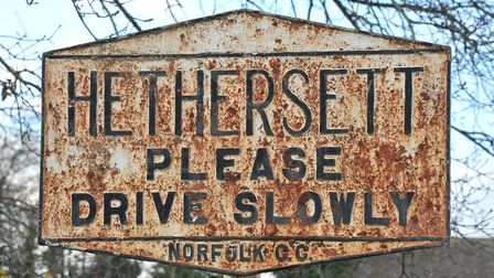 Hethersett road sign Picture by SIMON FINLAY.