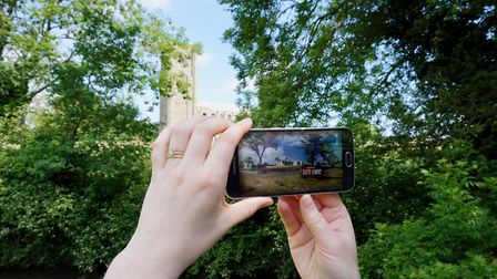 The virtual reality technology at Wymondham Abbey. Picture: South Norfolk Council