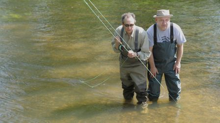 TV and fishing pals Whitehouse and Mortimer enjoy a session Picture: John Bailey