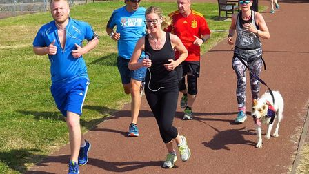 Action from a sun kissed Gorleston Cliffs parkrun at the weekend. Picture: Richard Knibb