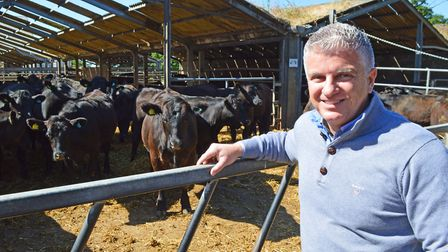 Beckhithe Farms at Reedham, which supplies beef to Waitrose. Pictured: Farm manager Gary Gray. Pictu