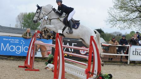 Atiya Bussey, 13, who lives near Norwich, with Chesterfield Z, a 12-year-old grey gelding owned by m