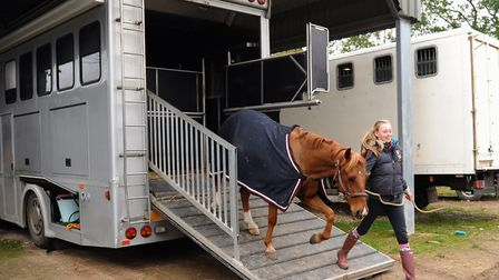 Blast from the past: It's 2013 and, at The Wodehouse Stud and Livery at Hethel. India Bussey, then 1