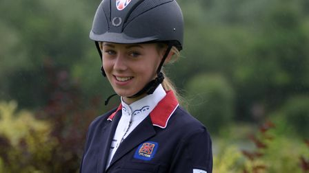 India Bussey in 2015, when she was selected for the British Equestrian Federation Excel Talent Progr
