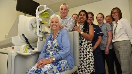 The new ophthalmology machine, the IRay, is officially unveiled by John Fry at the Norfolk and Norwi