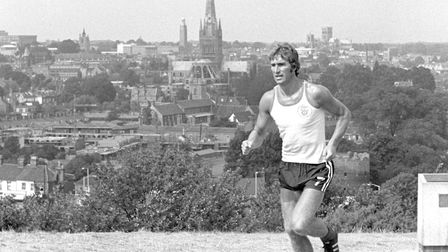 Duncan Forbes training on Mousehold Heath Picture: Archant