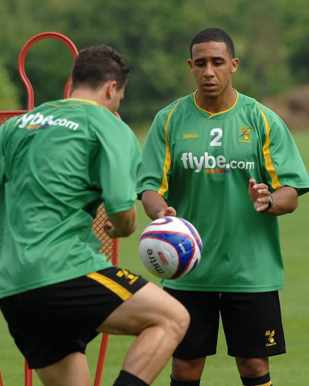 Jon Otsemobor playing catch in 2007 Picture: Archant