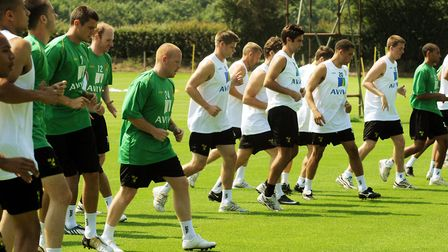 Bryan Gunn's squad for the start of the 2009-10 campaign Picture: Archant