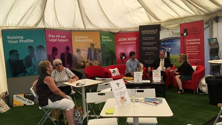 The Norfolk Chamber of Commerce marquee at the Royal Norfolk Show 2018. Picture: Bethany Whymark
