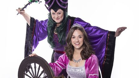 Victoria Bush as– Carabosse and Olivia Arnold as Princess Belle in the Christmas panto Sleeping Beau