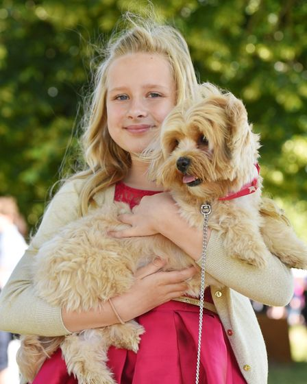 Fashion at the Royal Norfolk Show 2018.Lily-Ann Hare with her dog Coco.Picture: Nick Butcher