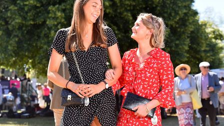 Fashion at the Royal Norfolk Show 2018.Grace Copplestone and Scarlet DonohoePicture: Nick Butcher