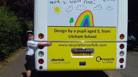 Nathaniel, from Litcham School. Pic: Norfolk County Council.