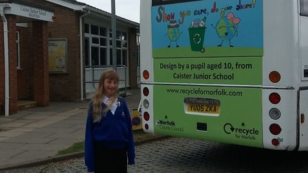 Emily, from Caister Junior School. Pic: Norfolk County Council.