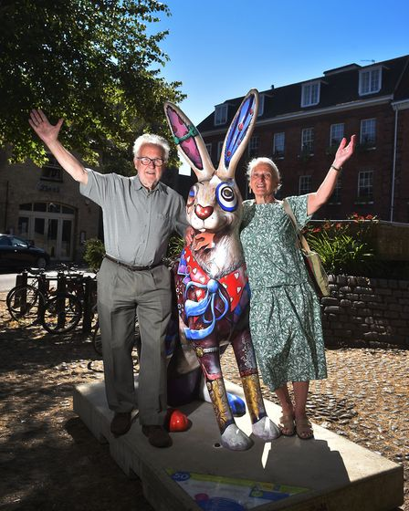 A busy first weekend for the GoGoHare trail. Joy and Graham Kenworthy, from Brundall, with Lewis the
