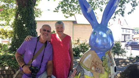 Kevin and Gill Robinson with Holly Hare.Photo: Emma Knights