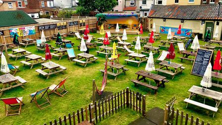 The beer garden at the York Tavern has been packed for England's World Cup games. Picture: James Wat