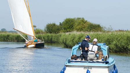 A Herbert Woods hire boat on the Norfolk Broads. Picture: Visual Devotion